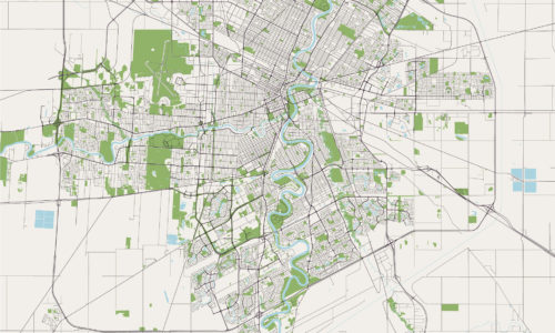 Map of Winnipeg to highlight subdivision legal services.